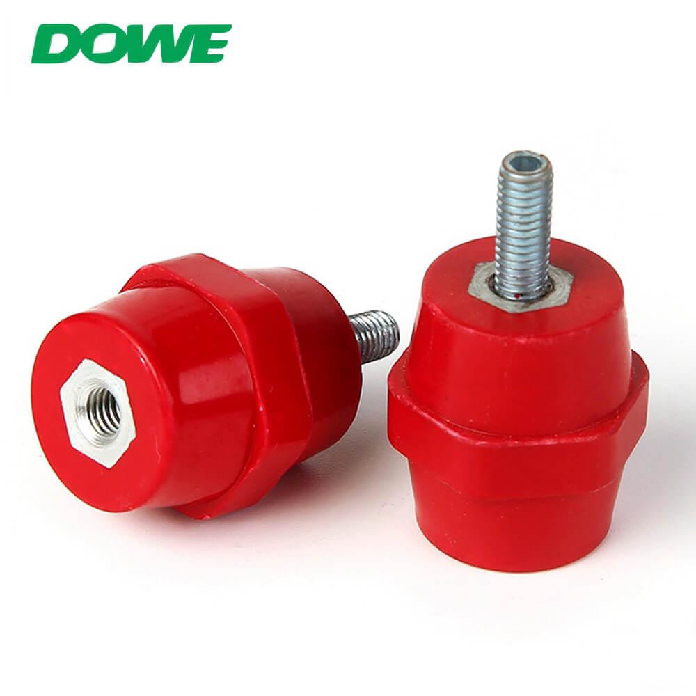 Aislador de plástico eléctrico SEP2522 DMC Aislador hexagonal de soporte de barra de bus de bajo voltaje con perno