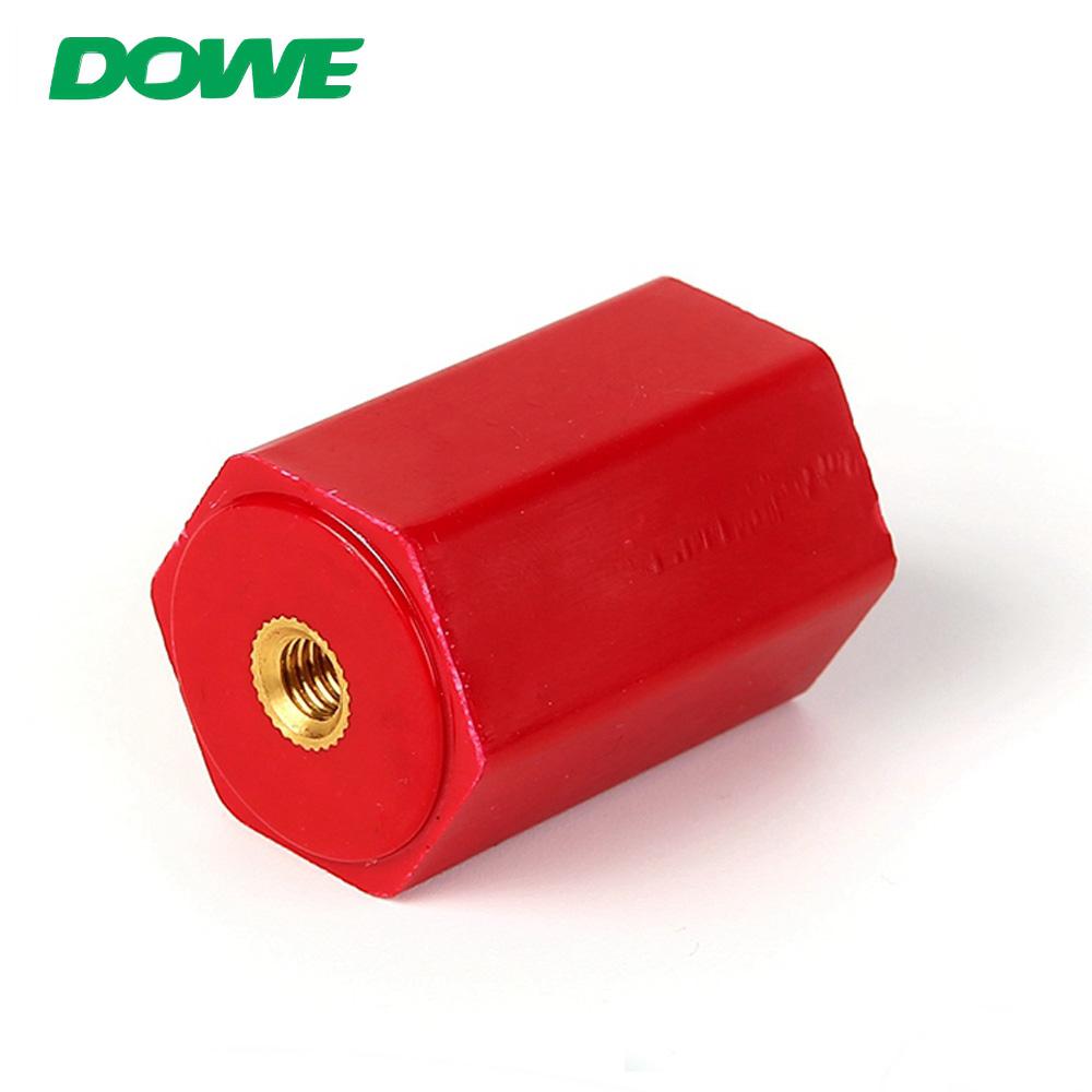 DOWE EN30 M6 Aislador de barra colectora hexagonal Soporte de soporte Aisladores eléctricos